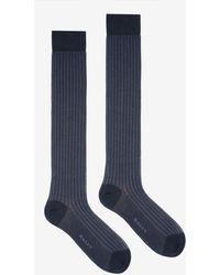 Bally - Long Ribbed Socks - Lyst