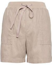 "Banana Republic - Petite Soft Linen-cotton 5"" Pull-on Short - Lyst"