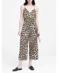 d6db69dc5a6 Lyst - Banana Republic Twill Off-the-shoulder Cropped Jumpsuit in ...