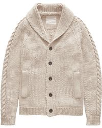 Banana Republic - Heritage Italian Linen-cotton Hand-knit Cardigan Sweater - Lyst