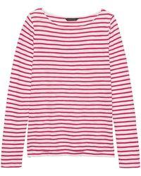 dd5bb96302377 Banana Republic - Slub Cotton-modal Boat-neck T-shirt - Lyst