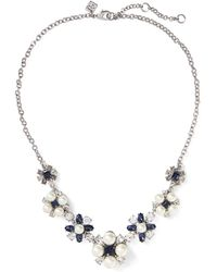 Banana Republic - Pearl & Stone Necklace - Lyst
