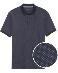 d0df832df96b Lyst - Banana Republic Dot Print Signature Pique Polo Preppy Navy in ...