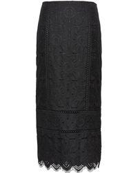 Banana Republic - Lace Midi Pencil Skirt - Lyst