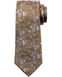 Banana Republic - Textured Ground Floral Silk Nanotex® Tie - Lyst