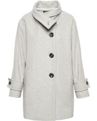 Teddy Cocoon Jas.Scotch Soda Teddy Cocoon Coat In Natural Lyst