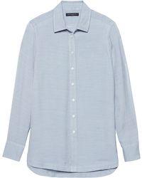 6f14a1aeb6bce Lyst - Banana Republic Parker Tunic-fit Stripe Utility Shirt in Blue