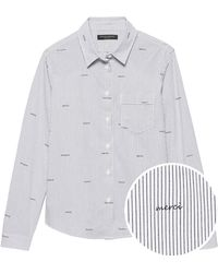 60f470c7347c7 Lyst - Banana Republic Quinn Straight-fit Stripe Shirt in White