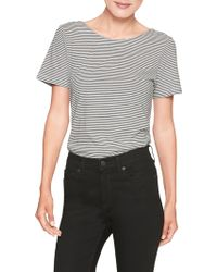 Banana Republic Factory - Stripe Bow Back Designer T Shirt - Lyst