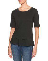 Banana Republic Factory - Ruffle Hem Designer T Shirt - Lyst