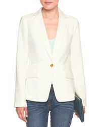 Banana Republic Factory - Machine Washable White Bistretch Cutaway Suit Blazer - Lyst