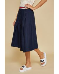 Fila - Midi Length Knife Pleated Skirt - Lyst
