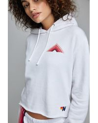 Aviator Nation - Pullover Hoodie With Raw Edge - Lyst