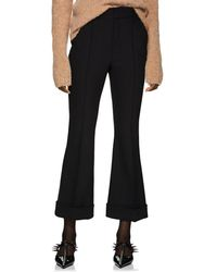 Helmut Lang - Crop Flared Trousers - Lyst