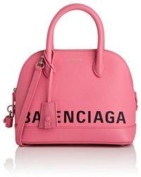 Balenciaga - Ville Small Leather Bowling Bag - Lyst