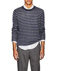 Vince - Striped Linen Sweater - Lyst