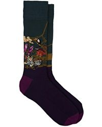 Corgi - Jungle-scene Cotton-blend Mid-calf Socks - Lyst