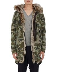 Mr & Mrs Italy - Fur-lined Camouflage Cotton Canvas Parka - Lyst