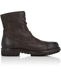 Barneys New York - Lug-sole Washed Leather Boots - Lyst