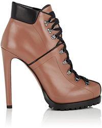 Alaïa - Leather Platform Hiking Boots - Lyst