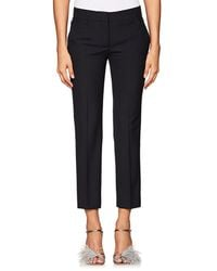 Prada - Virgin Wool Slim Ankle Trousers - Lyst