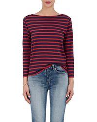 Saint Laurent - Breton-striped Cotton Jersey T - Lyst