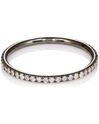 Ileana Makri - White Diamond Threadband - Lyst