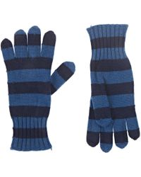 Barneys New York - Striped Cashmere Gloves - Lyst