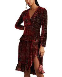 Altuzarra - Farley Velvet Wrap Dress - Lyst
