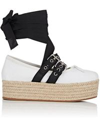Miu Miu - Buckled-strap Leather Sneakers - Lyst