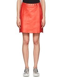 Acne Studios - Shirin Lambskin Miniskirt - Lyst