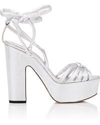 Alchimia Di Ballin - Tara Leather Ankle-wrap Platform Sandals - Lyst