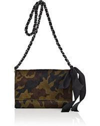 Barneys New York - Large Cow Hair Chain Wallet - Lyst