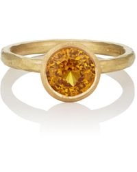 Malcolm Betts - Yellow Sapphire Ring - Lyst