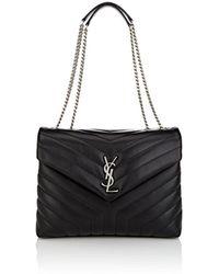 Saint Laurent - Monogram Loulou Medium Leather Shoulder Bag - Lyst