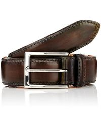 Harris - Burnished Smooth Leather Belt - Lyst