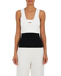 Narciso Rodriguez - Colorblocked Knit Fitted Top - Lyst