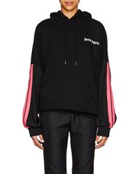 Palm Angels - Striped Cotton Hoodie - Lyst