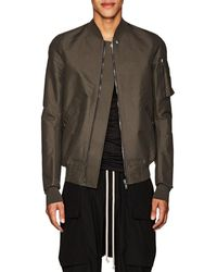 Rick Owens - Flight Canvas Bomber Jacket - Lyst