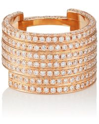 Dauphin - White Diamond Ring - Lyst