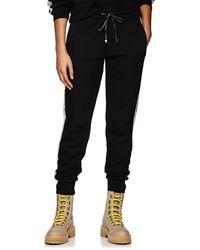 Palm Angels - Floral-logo Cotton Fleece Sweatpants - Lyst