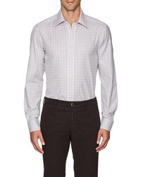Luciano Barbera - Checked Cotton Shirt - Lyst
