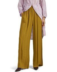 Raquel Allegra - Tonal-striped Wide-leg Pants - Lyst