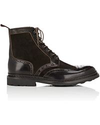 Heschung - Dublin Suede & Leather Wingtip Boots - Lyst