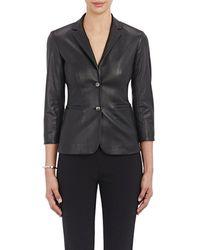 The Row - Leather Nolbon Jacket - Lyst