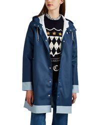 Stutterheim - Mosebacke Colorblocked Cotton-blend Raincoat - Lyst