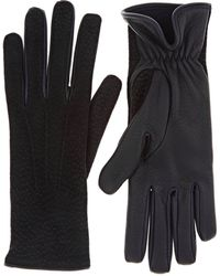Barneys New York - Dotted Deerskin Gloves - Lyst