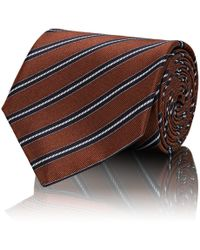 Brioni - Diagonal-stripe Silk Satin Necktie - Lyst