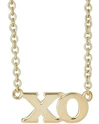 Jennifer Meyer - xo Charm Necklace - Lyst