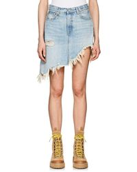 R13 - Tilly Denim Asymmetric Miniskirt - Lyst